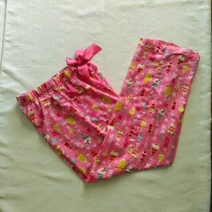Girl's Capri Length Pink Pajama Pants